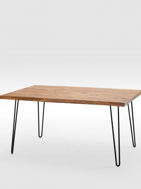Didelis Rustic stiliaus valgomojo stalas su lenktomis kojomis