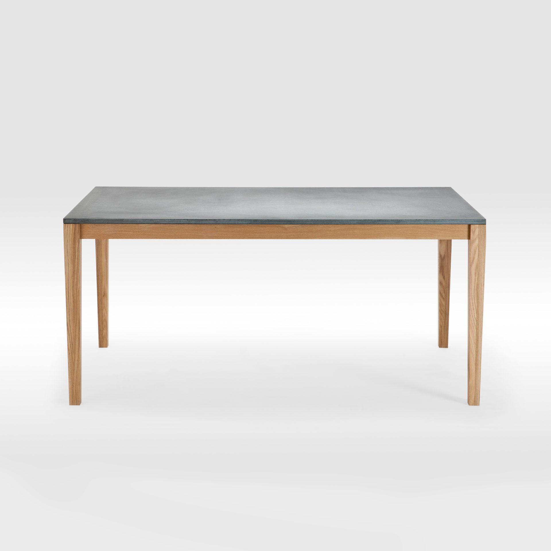 Valgomojo stalas su Fibro betono stalviršiu ir ąžuolinėmis kojomis
